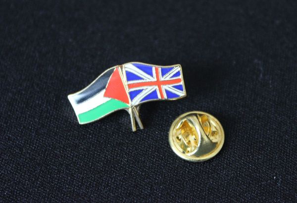 Palestine & GB – Twin Flag Badge