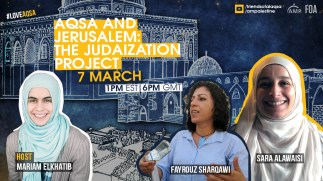 Sunday - Aqsa and Jerusalem: The Judaization Project