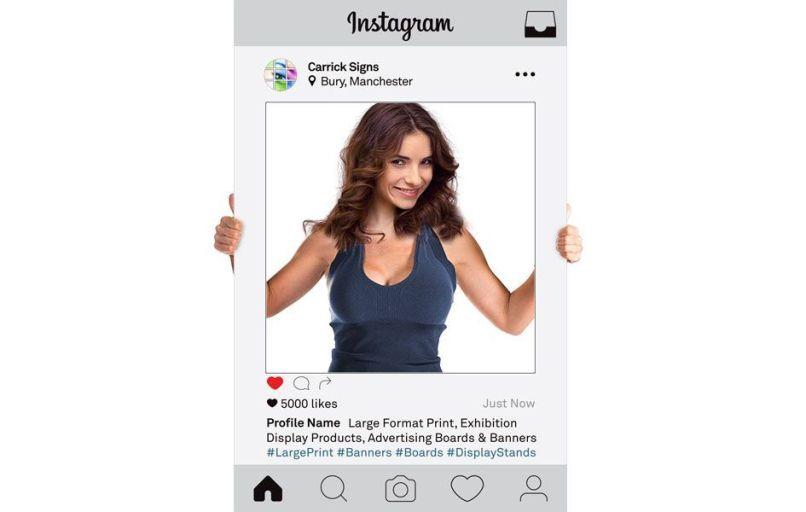 Giant Instagram Frame Prop Uk   Frameswalls.org