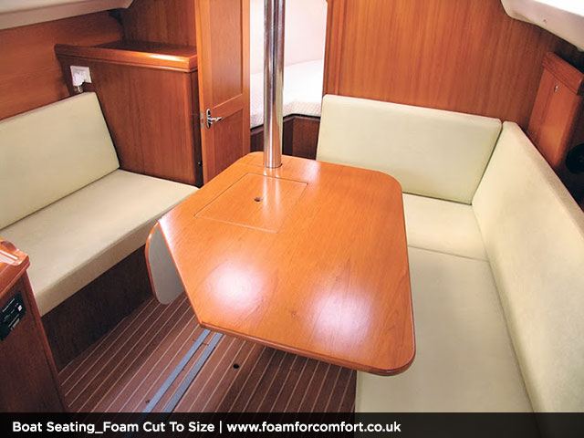 Comfortable on board seating area.