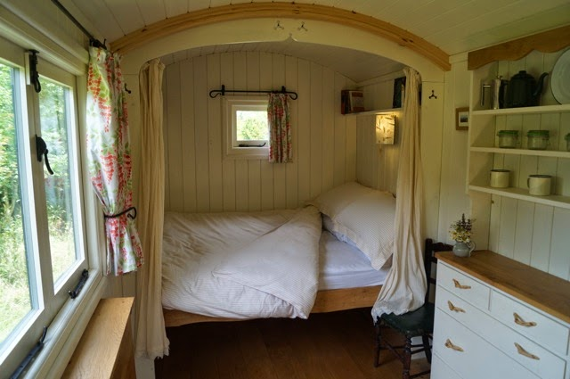 Shepherd Hut Double Bed.