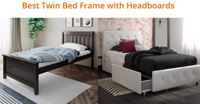 mecor metal twin bed frame with vintage