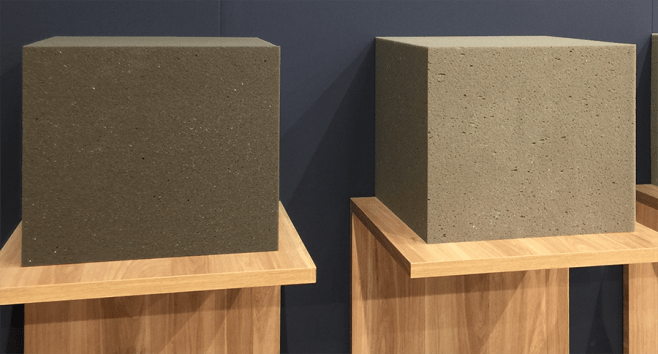 Charcoal foam from the Interzum Show