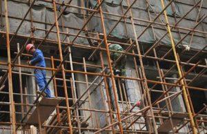 Locação de andaimes construção civil