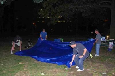 folding the tarp