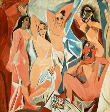 Risultati immagini per Les demoiselles d'Avignon picasso