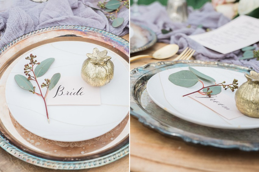 1920's wedding place setting