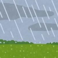 雨降る草原のイラスト