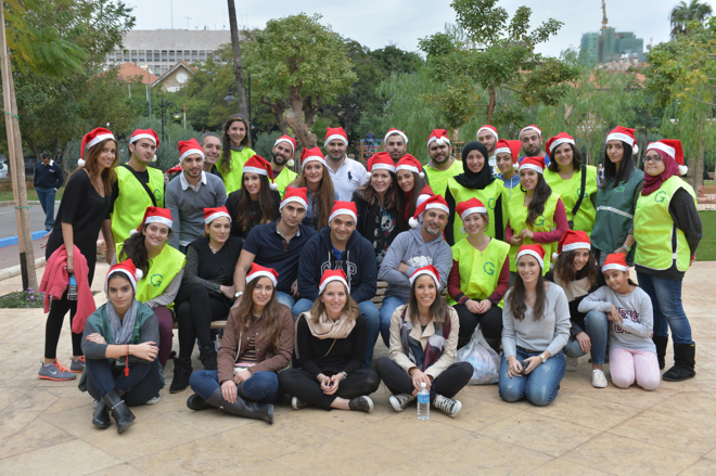La Fondation Azadea décore le jardin René Mouawad Sanayeh avec les Enfants de l'association AFEL