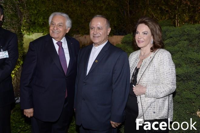 Réception dans les jardins de la Villa Audi à l'occasion du forum économique arabe