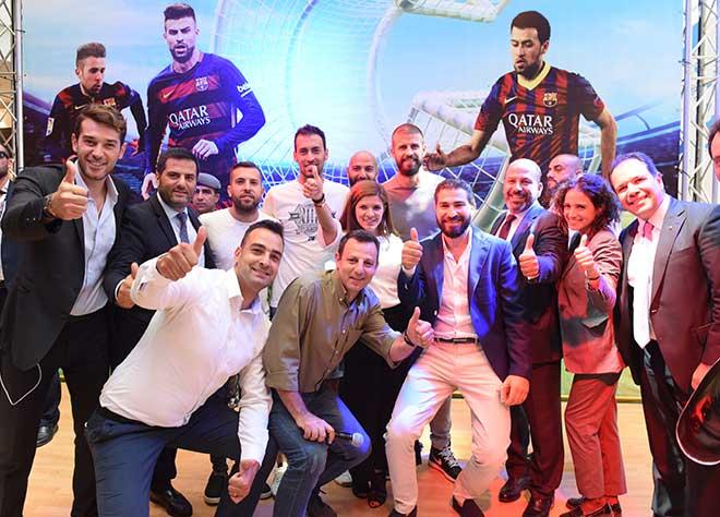 City Centre Beirut accueille les stars du FC Barcelona Gérard Pique, Sergio Busquets et Jordi Alba, créant des moments inoubliables pour les amateurs de foot.
