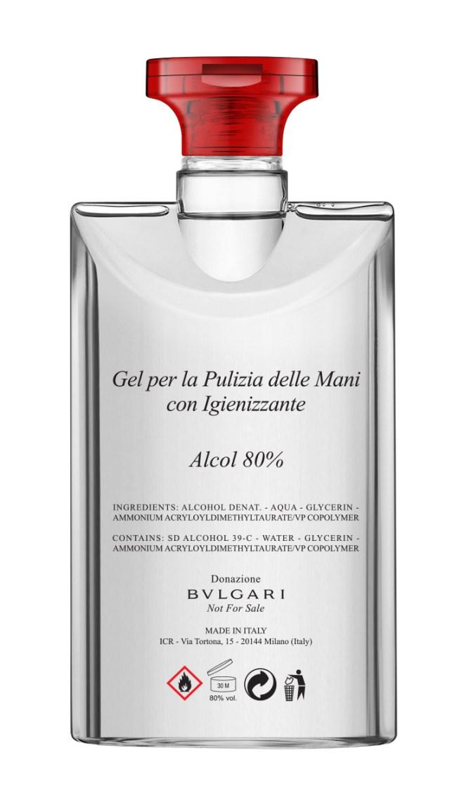 Bvlgari offre des milliers de bouteilles de gel hydroalcoolique aux hôpitaux italiens