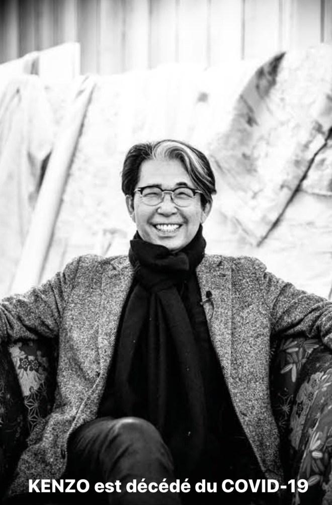 K3 annonce la disparition de  KENZO TAKADA