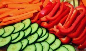 hessing foto van gesneden groente