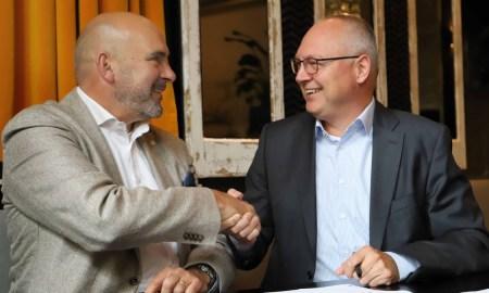 Bruno Oudega, CEO van Quion, en Andre van der Doelen, CEO van Hyarchis