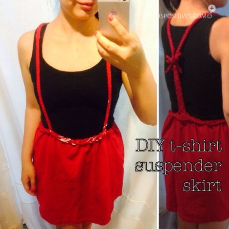 Diy t-shirt suspender skirt (no sew)