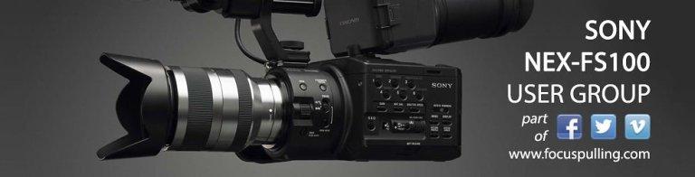 Sony NEX-FS100 Banner