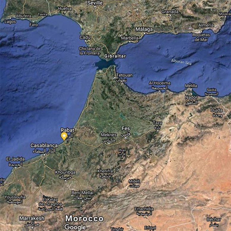 Contrabandiers Cave, Morocco, Map