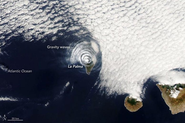 Cloud Rings Over La Palma Annotated