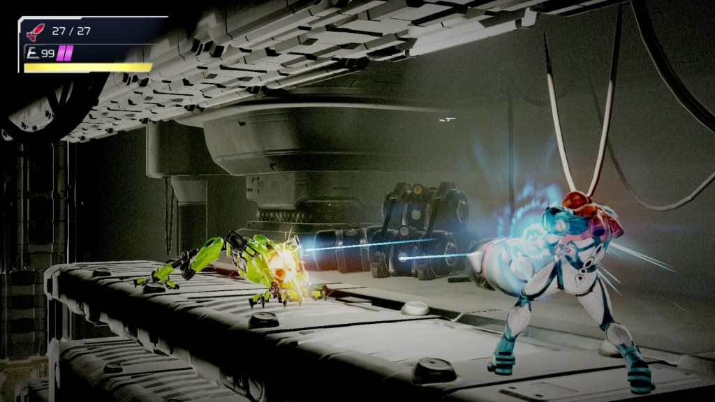 A screenshot of Metroid Dread for Nintendo Switch.