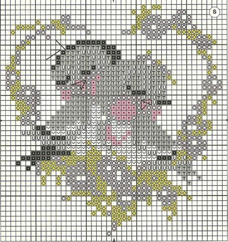 Вышивка крестиком схемы по клеточкам картинки: маленькие ...