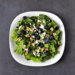 Low FODMAP Fruit and Walnut Salad on plate