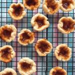 Low FODMAP Butter Tarts (gluten-free butter tarts) cooling on wire rack