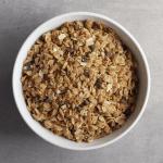 Low FODMAP Stovetop Granola in bowl