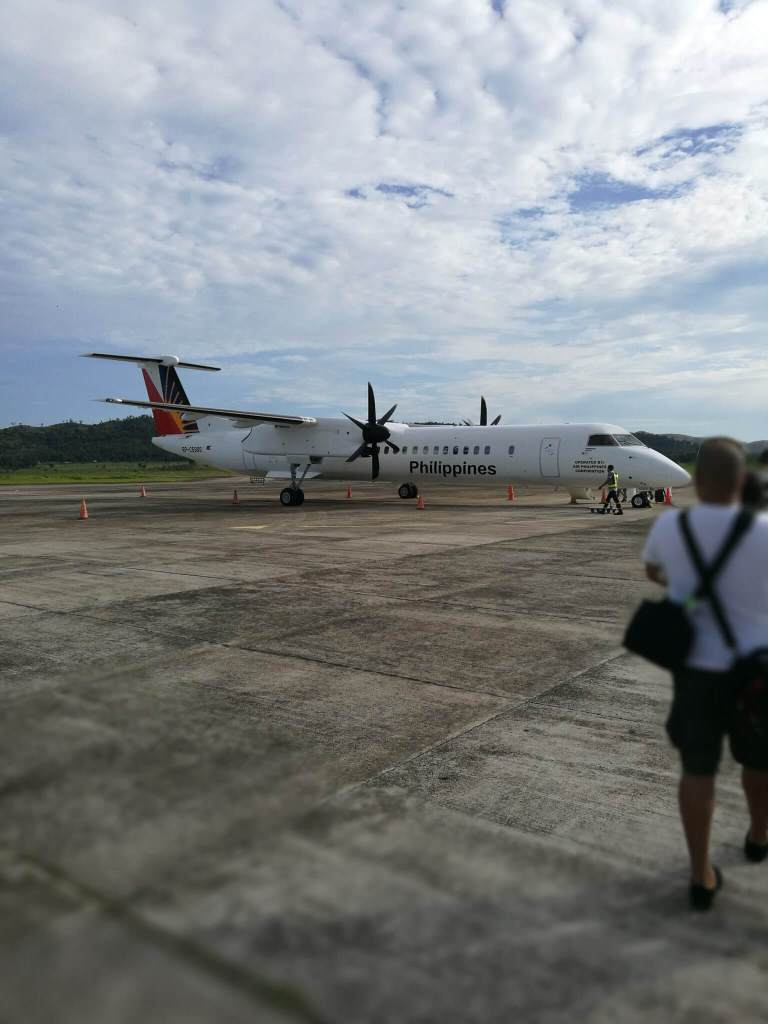 Vliegtuig van Coron naar Manilla
