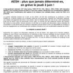 AESH appel intersyndical 3 juin reduite