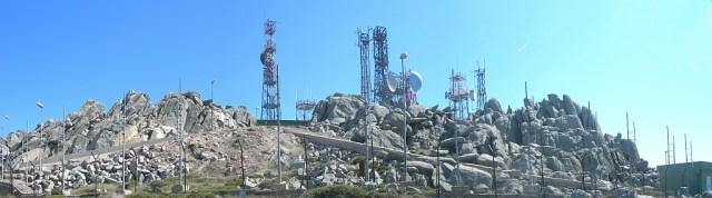 Antennenwald Gipfel Monte Limbara