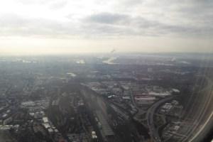 Hamburg beim Abflug