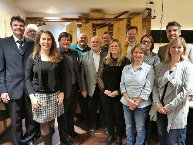 Vorstandschaft bei Jahreshauptversammlung 2020