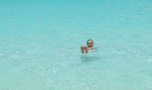 This was the life! Foggy Mommy before she was a mommy, unplugged in Anguilla.