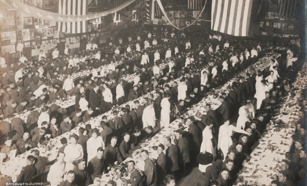 Banquet for Ulster County World War I soldiers, April 1, 1919