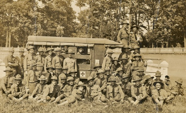 Section 580, U.S. Ambulance Corps Allentown, PA 1917 W. Anderson Carl Photo Collection.