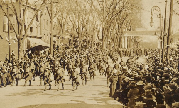 Parade for returning soldiers, April 1, 1919