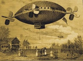 Drawing of a 1890s mystery airship