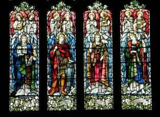 The Archangels in stained glass
