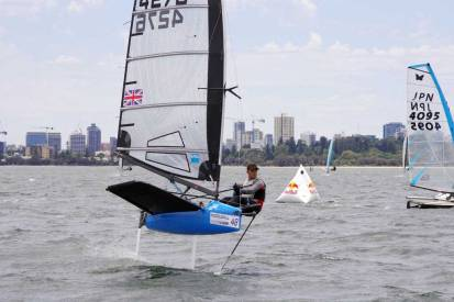 Ed Chapman. Image by Rick Steuart of Perth Sailing Photography