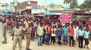 mass protest in Muniguda