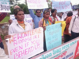 Dongria Kond protest at Vedanta office Bhubaneswar