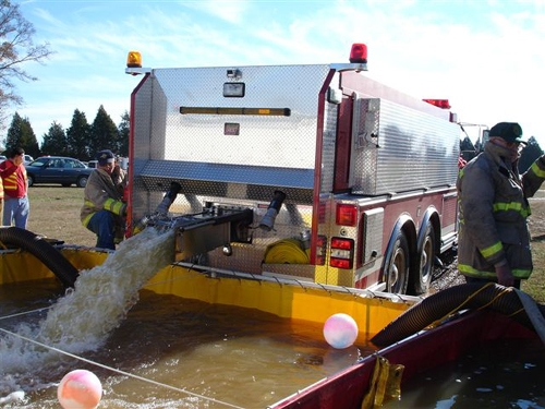 WATER SHUTTLE TRAINING COURTESY OF COLD SPRING FIRE DEPT.