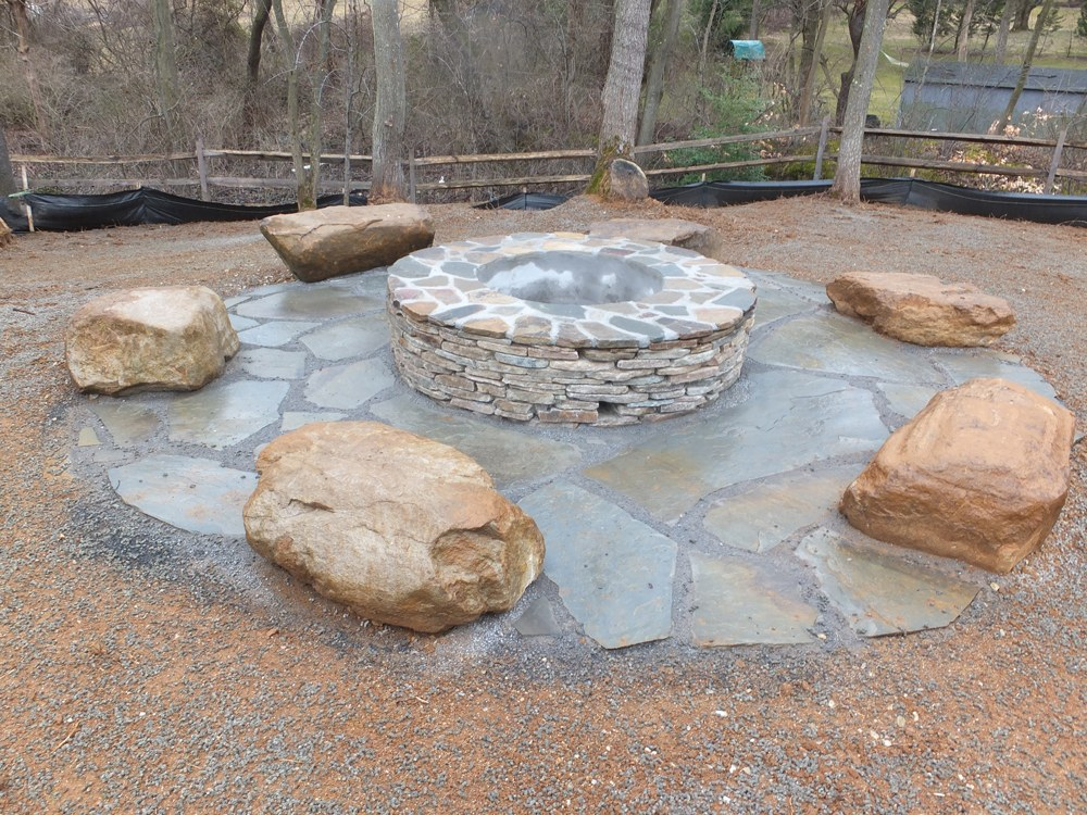 New Fire Pit Installation