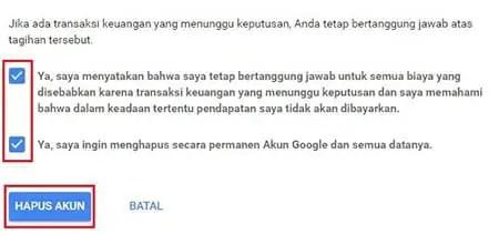 Cara Menghapus Akun Google Atau Gmail Secara Permanen