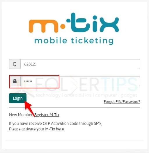 Langkah Registrasi M-Tix