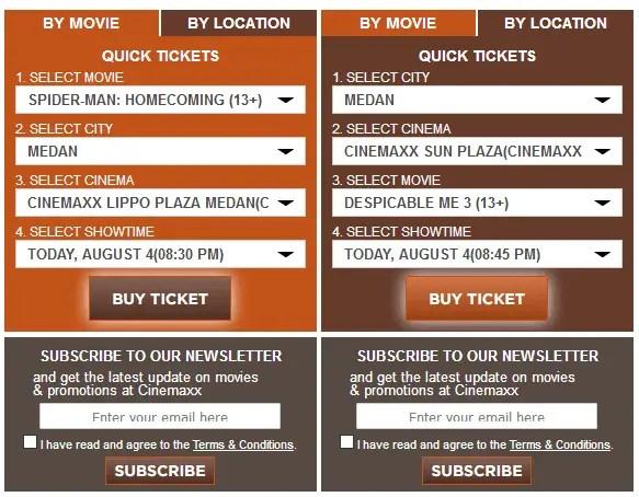 memilih film cinemaxx