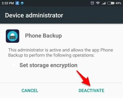 cara menghapus aplikasi sadap
