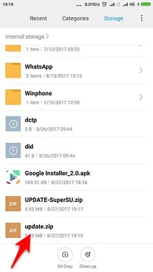 cara update install miui 9