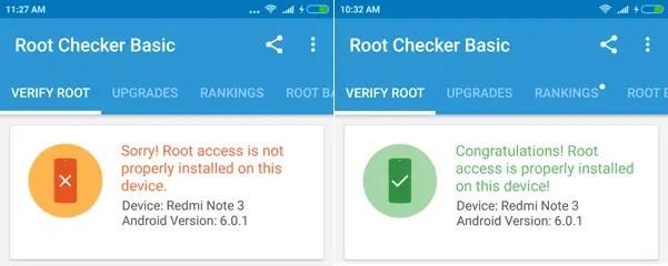 Sebelum / Sesudah Root Redmi Note 3 Pro